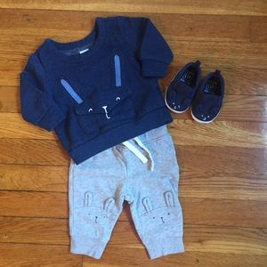 3-6M GAP Bunny Outfit and Shoes